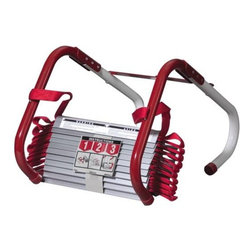 KIDDE - ESCAPE LADDER 3-STORY 25 FT - Worry free escape. Easy to use-attaches quickly to most common windows. Tangle free design. Ready to use-no tools or assembly required. Ladder tested to 1000 lbs. Anti-slip rungs. 5 year limited warranty.