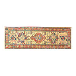 Super Kazak Oriental Rug Runner, 3X10 Hand Knotted 100% Wool Tribal Rug SH11974 - This collections consists of well known classical southwestern designs like Kazaks, Serapis, Herizs, Mamluks, Kilims, and Bokaras. These tribal motifs are very popular down in the South and especially out west.