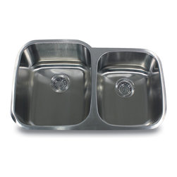 "Nantucket Sinks - Nantucket Sink ns503-16 - 32"" 60/40 Double Bowl Undermount Stainless Steel Kitch - Nantucket Sinks large, double offset bowl, undermount  kitchen sink. Great contemporary design with the utility of a 60/40 sink."