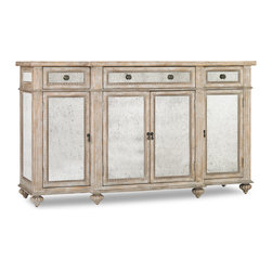 Hooker Furniture - Hooker Furniture Antique Mirrored Credenza 5113-85001 - Hooker Furniture Antique Mirrored Credenza