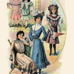 Buyenlarge - Early Summer Designs for Misses and Children 20x30 poster - Series: Victorian Soap & Talcum Powder Packaging