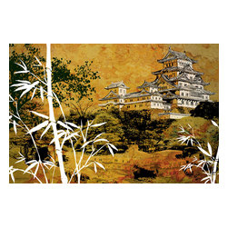 Maxwell Dickson - Maxwell Dickson 'Golden Season' Asian Modern Canvas Art Print - We use museum grade archival canvas and ink that is resistant to fading and scratches. All artwork is designed and manufactured at our studio in Downtown, Los Angeles and comes stretched on 1.5 inch stretcher bars. Archival quality canvas print will last over 150 years without fading. Canvas reproduction comes in different sizes. Gallery-wrapped style: the entire print is wrapped around 1.5 inch thick wooden frame. We use the highest quality pine wood available.