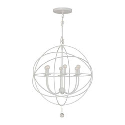 Crystorama Lighting - Crystorama Lighting 9226-WW Solaris Transitional / Eclectic / Modern Chandelier - Crystorama Lighting 9226-WW Solaris Transitional / Eclectic / Modern Chandelier in Wet White With Clear Smooth Balls Crystal