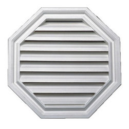 """Inviting Home - Octagonal Louvers - 20""""Dia - functional octagonal louvers 20-1/4""""W x 20-1/4""""H x 2""""D Functional louvers specifications: louvers designed for exterior application. Outstanding durability functional louvers are made of high density polyurethane. These louvers are lightweight durable and easy to install using common woodworking tools and can be finished with any quality paints."""