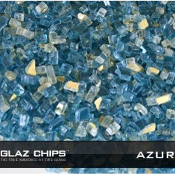 1/4 Inch Azuria and Gold Mix Fireglass (10lbs) - Azuria and gold fireglass make for a wonderful blend when reflecting gas flames.