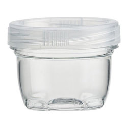 Small Lock Up Jar with Lid - Stackable containers with twist-lock lids provide easy, secure storage. Designed for busy lifestyles, each container can hold craft accessories, hardware, vanity or office supplies, and more.
