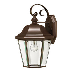Hinkley Lighting - Clifton Park Medium Wall Outdoor Lantern - The Clifton Park Collection has all the hallmarks of traditional good taste. Comes in Copper Bronze finish. Takes 1 75 Watt Medium Bulb.