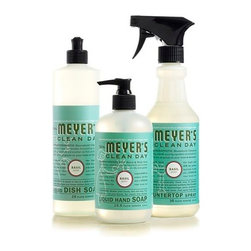 Kitchen Basics Set - Get your kitchen in tip-top shape with this trio from Mrs. Meyer's. The dish soap, hand soap and countertop cleaner will give you no excuse for being untidy. Plus, the set comes in a slew of scents from basil to lavender.