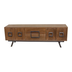 Wagner Modern Mid Century Inspired Credenza - Part of the Daniel Kucan Collection for Mortise & Tenon.