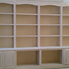 Traditional Storage Units And Cabinets by Arnold's Custom Cabinets LLC