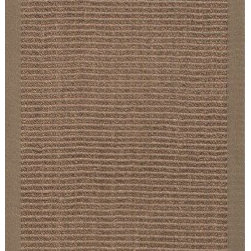 Jaipur Rugs - Naturals Solid Pattern Sisal Taupe/Tan Area Rug ( 2.6x9 ) - Woven 100% of natural sisal and accented with a fabric border, these rugs are durable and latex backed.
