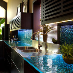 contemporary kitchen countertops by CBD Glass Studios