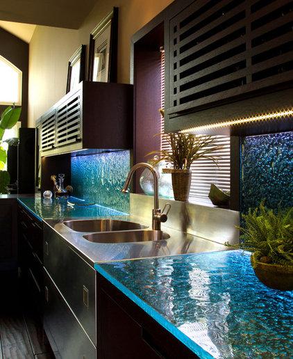 Contemporary Kitchen Countertops by CBD Glass Studios
