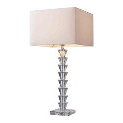 Dimond Lighting - Dimond Lighting D1482 Trump Home 5th Avenue Clear Crystal Table Lamp - Dimond Lighting D1482 Trump Home 5th Avenue Clear Crystal Table Lamp