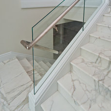 Beach Style Staircase by New York Shower Door