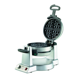 Waring Pro - Waring Pro Professional 1400-Watt Double Belgian Waffle Maker - Restaurant-quality maker features 2 nonstick cooking plates to produce 2 deep-pocketed waffles at once
