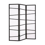 Furnituremaxx - 3-Panel Screen Room Divider, Black - If you have an open space in your home, or especially if you live in a studio-styled dwelling, the 3-Panel Screen Room Divider - Black is a perfect way to separate a room. Create a dining room, or instantly make a reading area in a corner. However you use it, this stylish 3-panel divider is an easy solution to your making the most out of your living space.