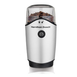 Hamilton Beach - Hamilton Beach 80350 Coffee Grinder - Make a fresher-tasting cup of coffee by grinding your own beans with this Hamilton Beach coffee grinder. This electric grinder has a large 12-cup capacity and features a see-through lid and measurement markings for ease of use.