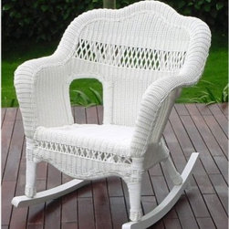 All Weather Sahara Resin Wicker Rocker - Steel Frame - Be prepared for lounging on crisp Autumn nights with the All Weather Grand Resin Wicker Rocker - Steel Frame. This durably constructed rocker has a steel frame, wrapped in resin wicker. This wicker is incredibly weather resistant, offering high-quality, maintenance-free style.About Kaven Company, Inc.San Francisco-based Kaven Company, Inc., is among the leaders in imported resin aluminum outdoor furniture. Operating for more than 20 years, Kaven owner Kevin Chan was one of the first to introduce his products to the U.S. The company also owns a shipping facility in Lexington, N.C., to serve customers on the East coast.Kaven cuts no corners while manufacturing products of the highest quality. The company offers high-end products and still maintains the competitive pricing edge. Kaven is committed to combining the best possible product with the highest customer service possible.