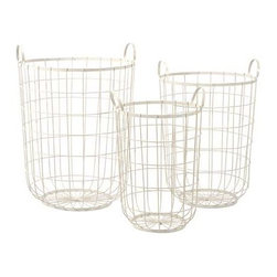 Dylan Wire Storage Baskets - Set of 3 - The Dylan wire storage baskets are a great way to stay organized. Their different sizes provide the exact amount of storage that you need.