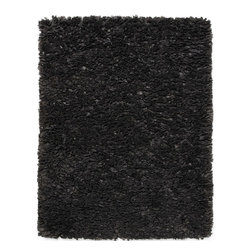 Anji Mountain - Shag Paper Shag 3'x5' Rectangle Gray Area Rug - The Paper Shag area rug Collection offers an affordable assortment of Shag stylings. Paper Shag features a blend of natural Gray color. Hand Loomed of 50% Recycled Paper  25% Vicose  25% Polypropylene the Paper Shag Collection is an intriguing compliment to any decor.