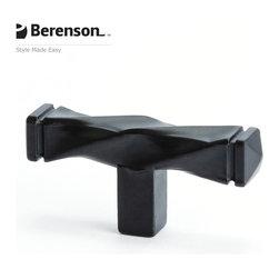 3046-155-P Black Cabinet Knob by Berenson - 2-1/2 inch long artisan style cabinet knob by Berenson in Black.