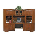 Winners Only - Americana Modular Corner Home Office Set - Includes computer unit, two hutch with doors, lateral file, wedge desk and wedge hutch. Cherry finishComputer unit:. CPU tower pedestal. Drop front drawer. Fixed pullout shelf. 32 in. W x 23 in. D x 30 in. HHutch:. Two doors. Two adjustable shelves. 32 in. W x 14.5 in. D x 49 in. HLateral file:. Two locking file drawers. Letter and legal filing. 32 in. W x 23 in. D x 30 in. HWedge desk:. One adjustable shelf. Drop front drawer. Kneehole: 32 in. W x 29 in. D x 25 in. H. Overall: 65 in. W x 30.5 in. D x 30 in. HWedge hutch:. Two adjustable shelves. 66 in. W x 24 in. D x 48.5 in. H