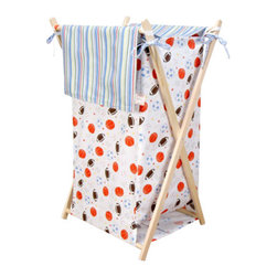 Trend Lab - Trend Lab Little MVP Clothes Hamper - The Little MVP Clothes Hamper by Trend Lab, along with the Little MVP bedding accessories.