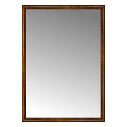 """Posters 2 Prints, LLC - 46"""" x 65"""" Belmont Light Brown Custom Framed Mirror - 46"""" x 65"""" Custom Framed Mirror made by Posters 2 Prints. Standard glass with unrivaled selection of crafted mirror frames.  Protected with category II safety backing to keep glass fragments together should the mirror be accidentally broken.  Safe arrival guaranteed.  Made in the United States of America"""