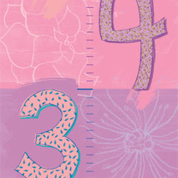 Murals Your Way - Numbers - Growth Chart Wall Art - Painted by Cindy Ann Ganaden, Numbers - Growth Chart wall mural from Murals Your Way will add a distinctive touch to any room