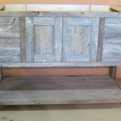 Sink Console Weathered Wood Single | House Design