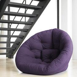 Jaxx Bean Bags - Nest Small Futon in Purple - Nest Small Futon in Purple