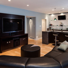 Contemporary Home Theater by Kitchen Craft Cabinetry Vancouver and Victoria