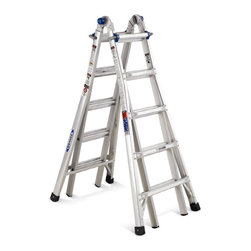 Werner 22-Foot Aluminum Telescoping Type IA Multi-Position Ladder - I recently moved into a new home with a two-story living room, so this telescoping ladder is high on my I-need-it-yesterday list of DIY necessities. The multi-position option makes is usable on uneven surfaces (like my staircase), and the fact that it telescopes up to 22 feet makes it useful in both standard-height rooms as well as my two-story living room. I can't wait for it to be at home in my garage!