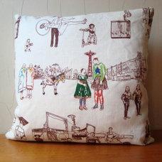 Eclectic Decorative Pillows Richard Saja Sideshow Pillow