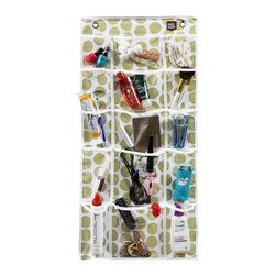 Simply Stashed - The Mini Stash-Lime Crazy Dot - The Mini Stash is perfect for dorms, apartments, office spaces, utility rooms and more!  Keep your jewelry visible and close at hand, or organize everything you'll need for baby right above the changing table.