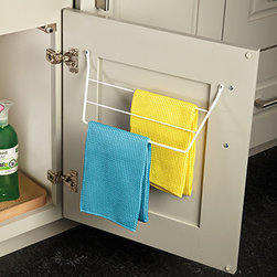 Sink Dish Towel Door Rack - Keep your dish and hand towels on the cabinet door for easy storage and drying.