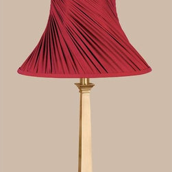 Laura Ashley - Laura Ashley Chelsea Red Swirled Pleat Bell Lamp Shade - SFW313 - Shop for Shades from Hayneedle.com! About Laura Ashley Home Lighting You know the name Laura Ashley ... it stands for classic beautiful design and quality. Now Laura Ashley Home Lighting brings that classic style to your home with an impressive selection of residential lighting including a broad range of lamps and lamp shades a lively assortment of unique mini-chandeliers and distinctive home lighting collections. Each piece embodies the English influence of Laura Ashley while bringing classical elegance to modern design.