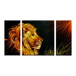 Matthew's Art Gallery - Metal Wall Art Modern Contemporary Suclpture Lion King - Name: Lion King