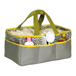 Trend Lab - Trend Lab Hello Sunshine Storage Caddy - 102336 - Shop for Diaper Stackers from Hayneedle.com! Organize and accessorize with the Trend Lab Hello Sunshine Storage Caddy. This chic organizer has eight outer pockets and removable T-separator to create inner compartments for all your storage-on-the-go needs. Store diapers wipes pacifiers sippy cups and other necessities while out and about with your baby. Can also be used to store craft supplies makeup travel kits - the opportunities are endless! This handy storage caddy is both fashionable and functional for moms on the go. Coordinates with the Trend Lab Hello Sunshine Crib Bedding Set and accessories.About Trend LabFormed in 2001 in Minnesota Trend Lab is a privately held company proudly owned by women. Rapid growth in the past five years has put Trend Lab products on the shelves of major retailers and the company continues to develop thoroughly tested high-quality baby and children's bedding decor and other items. Trend Lab continues to inspire and provide its customers with stylish products for little ones. From bedding to cribs and everything in between Trend Lab is the right choice for your children.