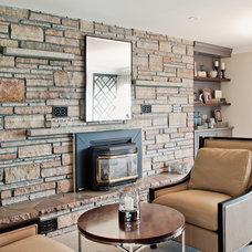 Contemporary Living Room by Elizabeth Metcalfe Interiors & Design Inc.