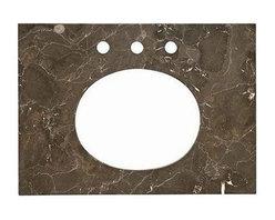 """American Standard - American Standard 25 x 20 Marble Vanity Top, Marble (9212.124.185) - American Standard 9212.124.185 25"""" x 20"""" Marble Vanity Top, Marble"""