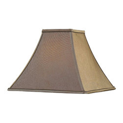 Design Craft - Design Match 14-inch Flared Square Cinnamon Lamp Shade - Customize your favorite table lamp with this sophisticated lamp shade. Made with a soft cotton and terylene blend,this elegant flared square lamp shade is finished in a soft cinnamon color that will brighten any space.