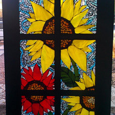 Glass on Glass Mosaic Stain glass Sunflowers