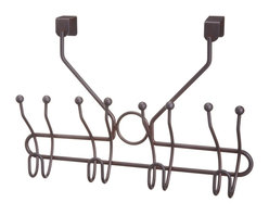Taymor - Four Prong Double Hook, Oil Rubbed Bronze - Hang your bathroom robes and towels on Taymor's Four Prong Double Hook. This lighweight and easy to use over the door hook is a great way to hang towels without being in the way!