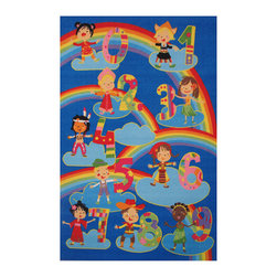 "Fun Rugs - Kids and Numbers Fun Time Collection Rug - 19"" x 29"" - This colorful rug has kids and numbers design Collection Name: Fun Time; 100% Nylon Dimensions: 19"" x 29"""