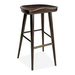 Brownstone/Brownstone - Balboa Stool, Midnight, Bar - The Balboa stools, made of solid teak, are Brownstone's interpretation of modern craftsman. Stocked in both counter and bar heights. Available in three finishes: hazelnut, midnight, and driftwood.