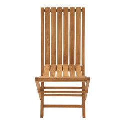 Portable Useful Wood Teak Folding Chair - Description: