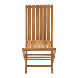 Portable Useful Wood Teak Folding Chair - Description: