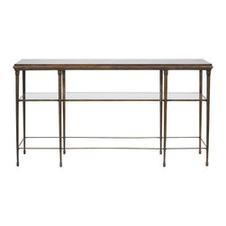 Vanguard Furniture - Vanguard Furniture Joyner Sofa Table with Wood Top P428S-FL - Vanguard Furniture Joyner Sofa Table with Wood Top P428S-FL